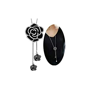 Shining Diva Fashion Jewellery Pendent for Girls with Long Chain Pendant Stylish Necklace for Women & Girls(Silver)(9279np)