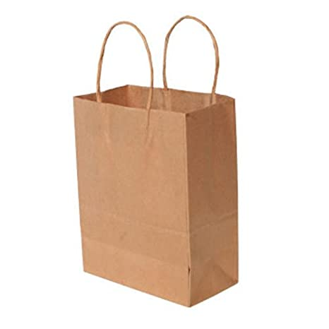 Amazon.com: Medium Neutral Natural café Kraft Papel Bolsas ...