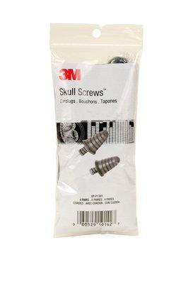 3M Corded Earplugs,Skull Screws,Vending Pack,4 Pair/Pack,