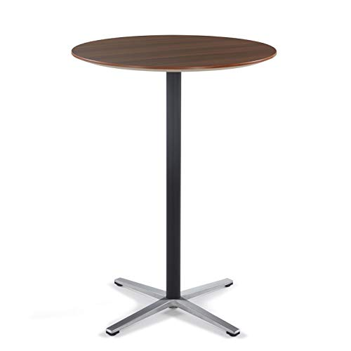 Sunon Round Bar Table Tall Bar Table for Pub/Bistro/Cocktail Table with Height Black Pedestal and Four Star Leg (Red Apple,43.3-Inch Height)