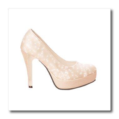 fc3e415c0e69c 3dRose ht_222534_1 Cute Pink Sparkly High Heel Shoe - Iron on Heat ...