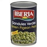 Iberia Green Pigeon Peas, 15 oz