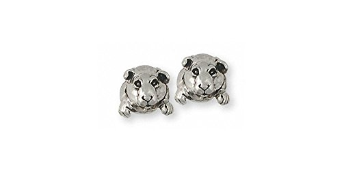 Guinea Pig Jewelry Sterling Silver Guinea Pig Earrings Handmade Piggie Jewelry GP10-E