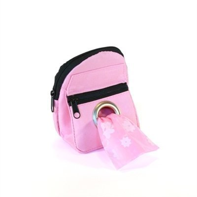 POOCH POUCH - Pink Backpack Dispenser Dog Waste Pick-Up Bags (20ea)