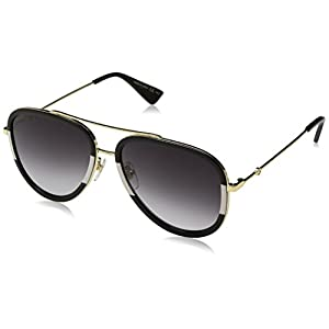 Gucci 0062S 006 Gold 0062S Aviator Sunglasses Lens Category 3 Size 57mm