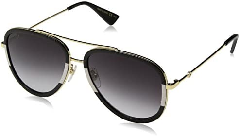 56814281f1e Gucci 0062S 006 Gold 0062S Aviator Sunglasses Lens Category 3 Size 57mm