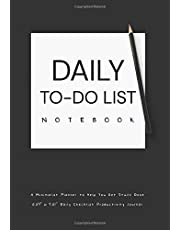 """DAILY TO-DO LIST NOTEBOOK A Minimalist Planner to Help You Get Stuff Done: 6.69"""" x 9.61"""" Daily Checklist Productivity Journal"""