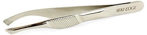 SEKI EDGE SS-504- Extra Grip Slant Tweezer - Edge Slant Tip Tweezers