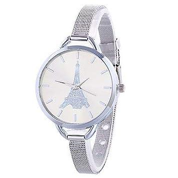 Relojes de hombre Mujer Reloj de Vestir Reloj de Pulsera Cuarzo Esfera Grande Aleación Banda Analógico