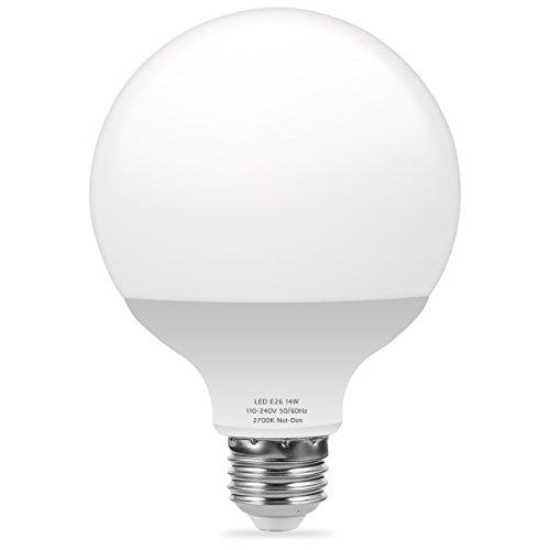 LOHAS Globe LED Light Bulb, G30 Edison Globe Light, 100W Equivalent Light Bulb, Lamp LED Bulb Decorative with 2700K Warm White, 14W Incandescent Bulb for Pendent Fixtures, Not Dimmable