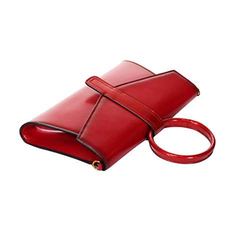 Sac Brillant Wybxa La Bague Femmes À Mode Rouge Mode La De Épaule Messenger Couverture Nouvelles D'embrayage HwwCxEqF
