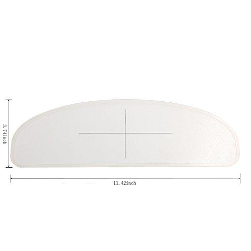 Anti Fog Visor Insert for Motorcycle Helmet Visor - Universal Design 3.74'' x 11.42'' by WeePro (Image #1)