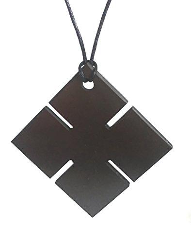 Karelia Shungite Pendant. EMF Protection Stone. Genuine Shungite Guarantee. (Cross)