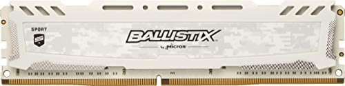 Crucial Ballistix Sport LT 3200 MHz DDR4 DRAM Desktop Gaming Memory Single 16GB CL16 BLS16G4D32AESC (White)