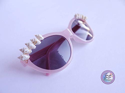 Pink Baby Heart Sunnies by Star Stuff Boutique, Jeweled Sunglasses, Crystal Eyewear, Decorated Sunglasses, Burning Man, Mermaid Sunglasses, rave wear, Valentines -