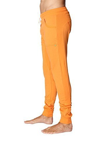 4-rth Men's Long Cuffed Perfection Yoga Pant (Large, Sun Orange) by 4-rth