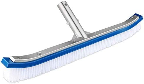 """ZHANGLE Poolbürste, Nylon-Algen-Poolbürste für die mühelose Reinigung von Wänden, Fliesen und Böden (blau) 18"""""""