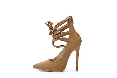 Mila Lady Ether21 Dorsay Strappy Tobillera Elegance Platform Lady Zapatos De Tacón Con Cordones! Camello 7
