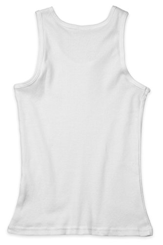 Boys Sleeveless Undershirt - (2 Pack) Boys White Tank and Super Soft Undershirts for All Day Comfort and Boys Tank Tops Wardrobe Essential by Candyland (Image #3)