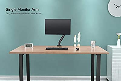 EleTab Monitor Desk Mount Stand - Full Motion Swivel Gas Spring Single Monitor Arm for 17''-32'' Computer Monitor up to 17.6 lbs