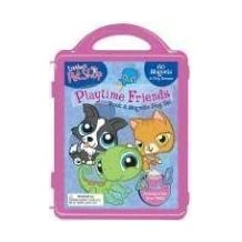 Littlest Pet Shop Playtime Friends Book & Magnetic Play Set [With 3 Double-Sided Play Scenes and 3 Magnetic Sheets with Over 100 Magnets] by (2008-03-01)