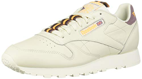 Reebok Men's Classic Leather Sneaker, Chalk/Noble Orchid/Solar Gold/Lush Earth, 8 M US