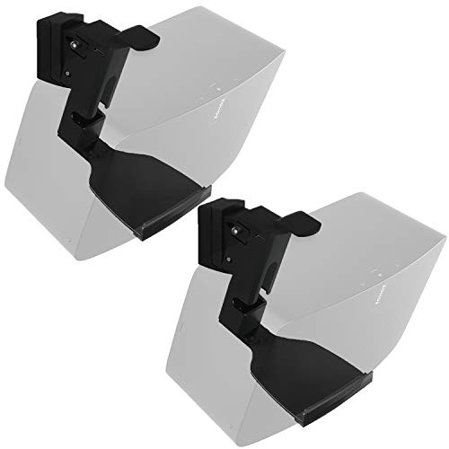 WALI SONOS Speaker Wall Mount Brackets for SONOS Play 5 Gen2 Multiple Adjustments, Hold up to 16lbs/7kg, (SWM002-2), 2 Pack, Black