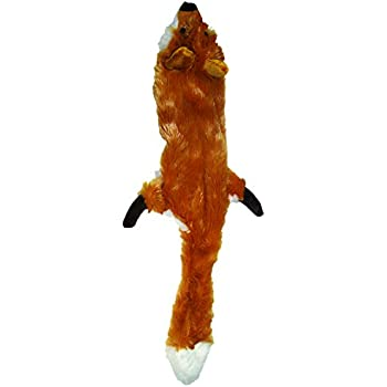 Ethical Pets Plush Skinneeez Fox 24-Inch Stuffingless Dog and cat squeaking Toy