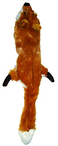 Ethical Pet Plush Skinneeez Fox 24-Inch Stuffingless Dog and cat squeaking Toy