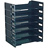 Innovative Storage Designs Stackable Letter Trays, Black, Pack Of 6