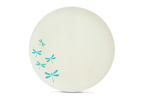 Aquaterra Living Ecofriendly Dinner Plate Set with Dragonfly Designs- Set of 6, 10