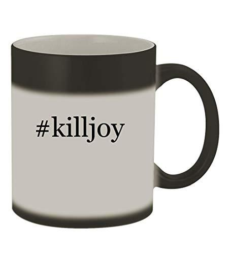 #killjoy - 11oz Color Changing Hashtag Sturdy Ceramic Coffee Cup Mug, Matte Black