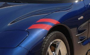 C5 Corvette Grand Sport-Style Fender Accent Stripes Black Driver Side Only ModernGenAuto
