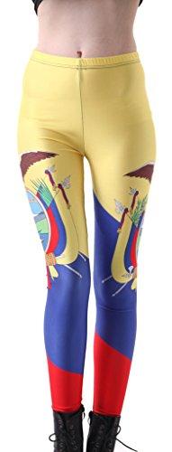 足枷野心スノーケルSister Amy女性用ハイウエストNation Flag Printed Ankle伸縮性タイツレギンス