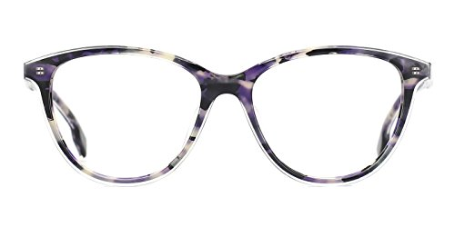 TIJN Cat Eye Acetate Optical Frame Eyeglasses Designer Glasses for Women (K, - Eye Glasses Green Cat