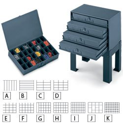 Durham 24-Compartment Extra Drawer Metal Case Storage Box - 202-95 by Durham