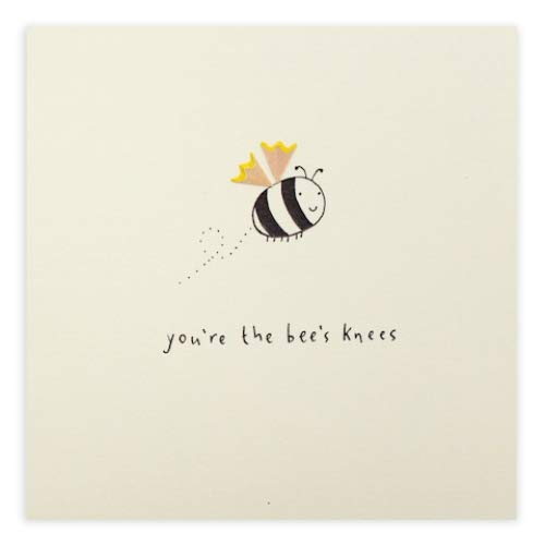 Youre The Bees Knees Pencil Shavings Greeting Card Handmade Greeting Cards