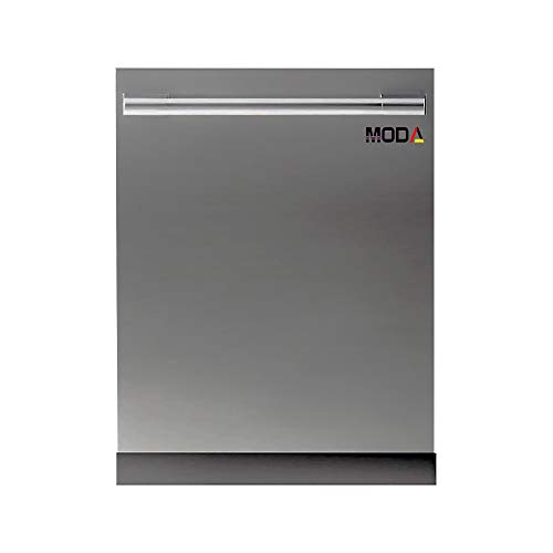 MODA GERMANY Fully Integrated Automatic, Power 3D Wash, Digital Display, Delay Function, 3 Stage Filtration System 14 Place Settings Build-in Dishwasher (Silver, FIN-NI-FI-60)