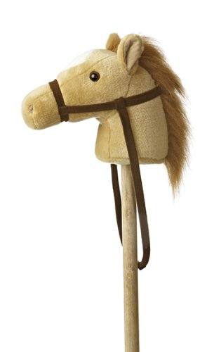 Aurora World World Giddy-Up Stick Horse 37'' Plush, Beige