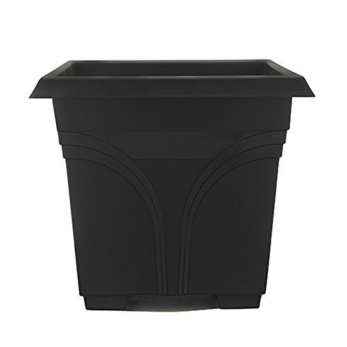 "Southern Patio 15"" Medallion Deck Box, Black"