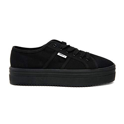 Negro con Z Lona ANDY Todo Cordones De Zapatillas Mujer para gPqgfwA