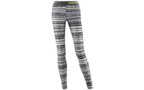 Nike Pro Warm 8 Bit Tight - Cool Grey/Black/Volt