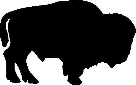 BUFFALO STANDING CAR DECAL STICKER, White, 6 Inch, Die Cut Vinyl Decal, For Windows, Cars, Trucks, Toolbox, Laptops, Macbook-virtually Any Hard Smooth Surface