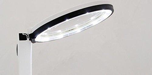 PIGE Alta definizione pieghevole tavolo tenuto in mano Lente dingrandimento con lampada a 10 volte il LED lampada da lettura di lampada portatile per gli anziani