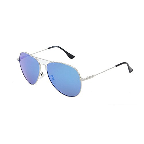 Aviator Sunglasses, Polarized Mental Frame Unisex Light Weight 100% UV - By Face Sunglasses Shape Shop