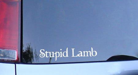 Stupid Lamb white vinyl sticker, twilight fan bella decal (Stupid Lamb)