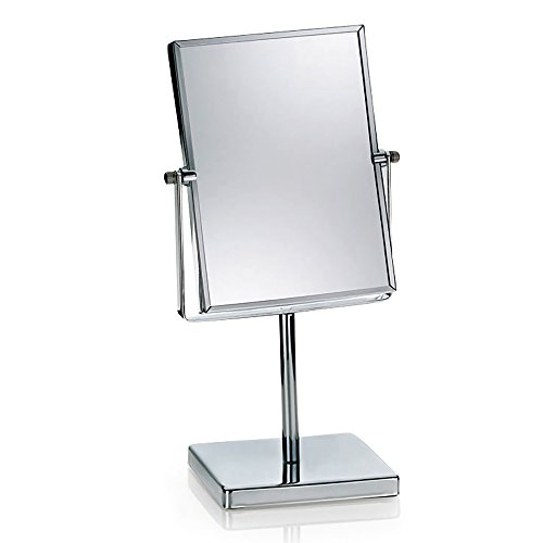 Kela 21497 Standspiegel, 1-/3-fach Vergrößerung, 20,5 x 15 x 34,5cm, Metall, Felisa, Verchromt