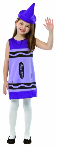 Crayola Crayon Tank Dress Costumes (Rasta Imposta Crayola Tank Dress, 4-6, Wisteria)