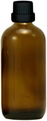10x Apothekenfläschchen 100ml aus Braunglas mit schwarzem Premium Tropfverschluss (Größe 1mm) mit Originalitätsring, Kindersicherung und Blindenwarnsymbol