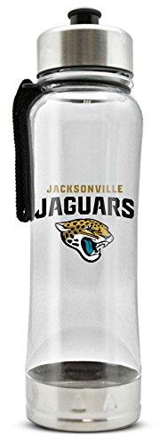 NFL Jacksonville Jaguars 20oz Clip-On Clear Plastic Water Bottle